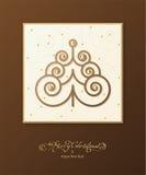 Albero dell'ornamentale di Brown royalty illustrazione gratis