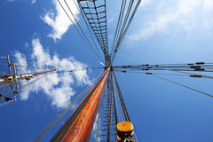 Albero dell'yacht Fotografie Stock