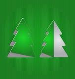 Albero della carta del ritaglio di Natale, fondo minimo Fotografia Stock