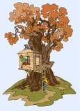 albero della casa Fotografia Stock Libera da Diritti