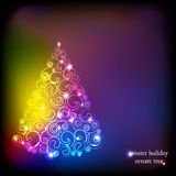 Albero della decorazione di vacanze invernali. Fotografia Stock Libera da Diritti