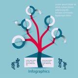 Albero della famiglia-famiglia di Infographics Fotografia Stock Libera da Diritti