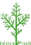 Albero della freccia con erba Fotografia Stock Libera da Diritti