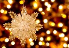 albero della neve dell'ornamento di natale della canna di caramella Immagine Stock Libera da Diritti