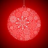 albero della neve dell'ornamento di natale della canna di caramella Fotografia Stock