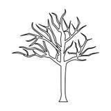 albero della siluetta con i rami senza foglie royalty illustrazione gratis