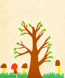 Albero della vernice di applicazione dei bambini illustrazione di stock