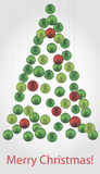 Albero delle palle di Natale Fotografia Stock Libera da Diritti