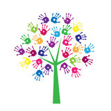 Albero delle stampe colorate delle palme Immagini Stock Libere da Diritti