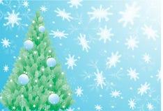 Albero di abete del nuovo anno Immagini Stock Libere da Diritti