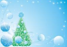 Albero di abete del nuovo anno Fotografia Stock
