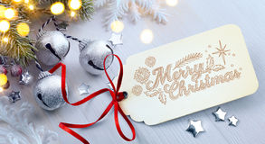 Albero di abete di Art Christmas con la decorazione Immagine Stock Libera da Diritti