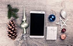 Albero di abete di Natale con i coni Fotografie Stock