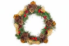 Albero di abete di festa della corona di Natale Toy Berries Gift Magic Decor C fotografie stock