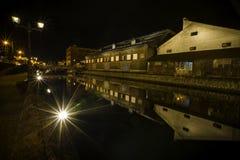 Albero di acero nel festival di illuminazione a Nashi Gawa Fotografia Stock