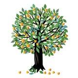 Albero di albicocca dell'illustrazione Immagini Stock Libere da Diritti