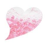 Albero di amore di forma del cuore per nozze, giorno di biglietti di S. Valentino, pittura dell'acquerello Fotografia Stock Libera da Diritti