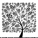 Albero di arte bello per il vostro disegno Immagini Stock Libere da Diritti
