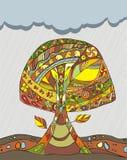 albero di autunno Immagini Stock