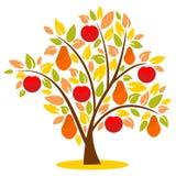 Albero di autunno di fantasia Fotografia Stock