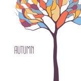 Albero di autunno di vettore Fotografie Stock