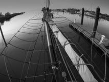 Albero di bompresso della barca a vela tradizionale Fotografie Stock Libere da Diritti