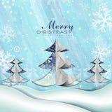 Albero di carta di Buon Natale Fotografie Stock Libere da Diritti