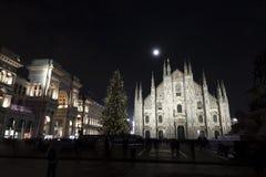 Albero di Christams in duomo Milano immagine stock