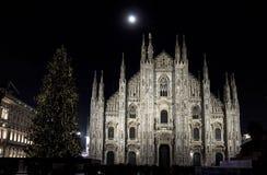 Albero di Christams in duomo Milano fotografia stock
