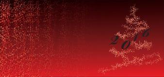 Albero 2016 di Christmass Fotografie Stock
