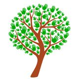 Albero di colore verde, modello, simbolo, crescita illustrazione di stock