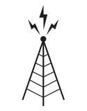 Albero di comunicazione dell'antenna della torre radiofonica illustrazione di stock