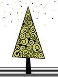 Albero di cristmas di verde di calce Immagini Stock