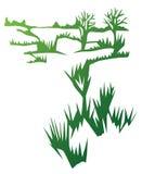 albero di erba del campo Fotografie Stock