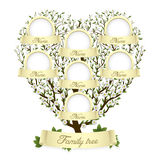Albero di famiglia nella figura del cuore Immagini Stock Libere da Diritti