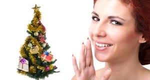 Albero di feste Buon Natale Fotografie Stock