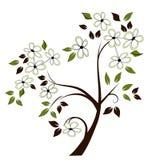 Albero di fioritura stilizzato illustrazione vettoriale