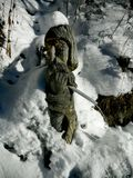 Albero di legno di sculpture Fotografie Stock Libere da Diritti