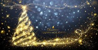 Albero di magia di Natale illustrazione di stock