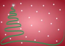 Albero di nastro di Natale con neve Fotografia Stock Libera da Diritti