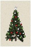 albero di Natale 3D Fotografie Stock
