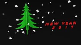 albero di Natale 2017 Fotografia Stock Libera da Diritti