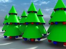 Albero di Natale 9 Fotografie Stock Libere da Diritti