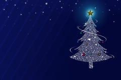 Albero di Natale di Abtract sui precedenti blu immagini stock