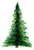 Albero di Natale in acquerello Fotografia Stock
