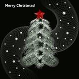Albero di Natale Albero del nuovo anno Illustrazione di Stock