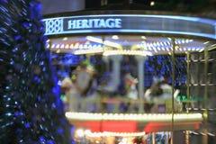 Albero di Natale all'eredità 1881 a Hong Kong Fotografia Stock