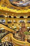 Albero di Natale all'hotel veneziano di Macau Immagini Stock