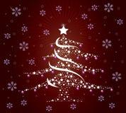 Albero di Natale alla moda Fotografia Stock Libera da Diritti