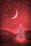Albero di Natale alla notte royalty illustrazione gratis